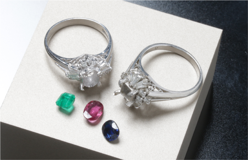 色石(ダイヤモンド以外)のリフォーム